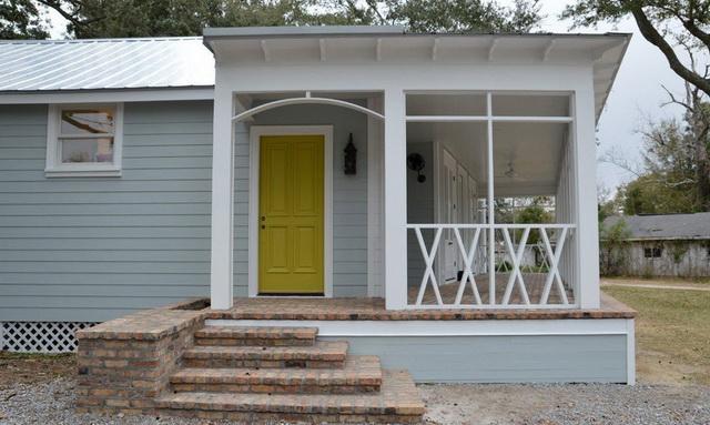 Дизайн крыльца частного дома со ступеньками - фото и варианты 3