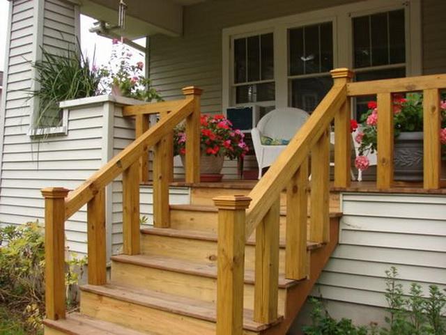 Готовые ступеньки для крыльца - фото ступеней из дерева, бетона, металла 2