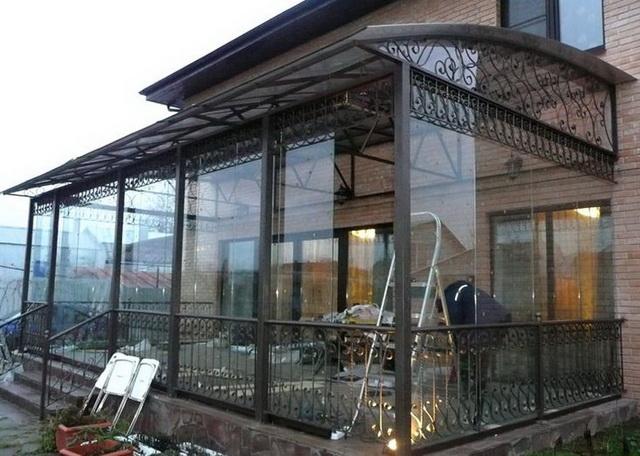 Окна из поликарбоната для веранды - варианты, фото, цена 4