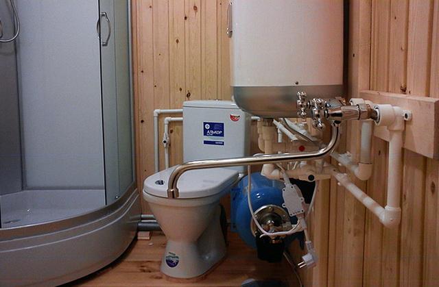 Зимнее водоснабжение бани из колодца 2