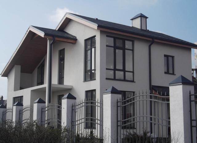 каким цветом покрасить фасад частного дома фото 11