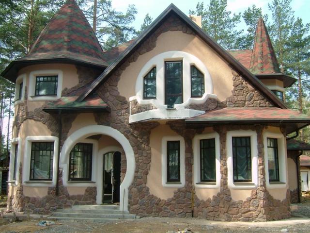 каким цветом покрасить фасад частного дома фото 13